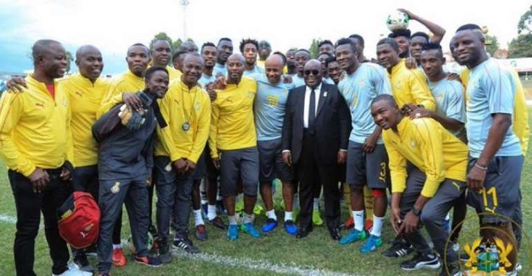 FLASHBACK: President Akufo-Addo with the black stars