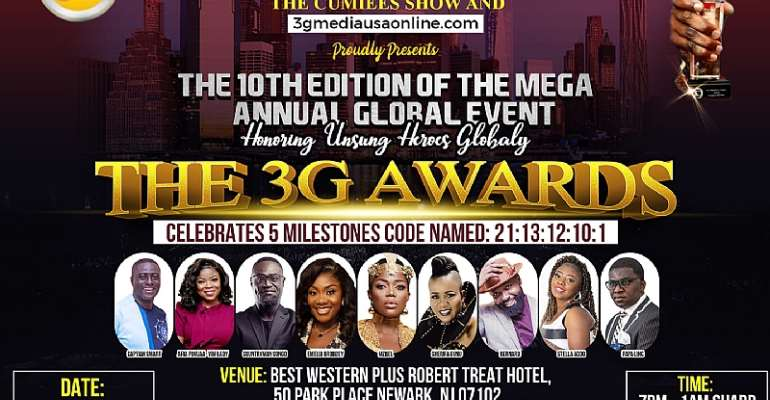 3G Awards' Celebrates a Special 10th Edition with a New Date and New Venue in New Jersey