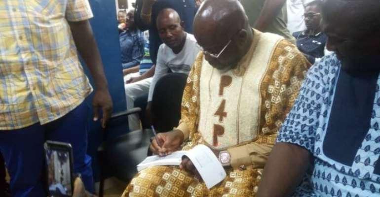 Ghana FA Presidential Hopeful Osei Kweku Palmer Purchase New Hearts of Oak Umbro Kit For GHC20,000