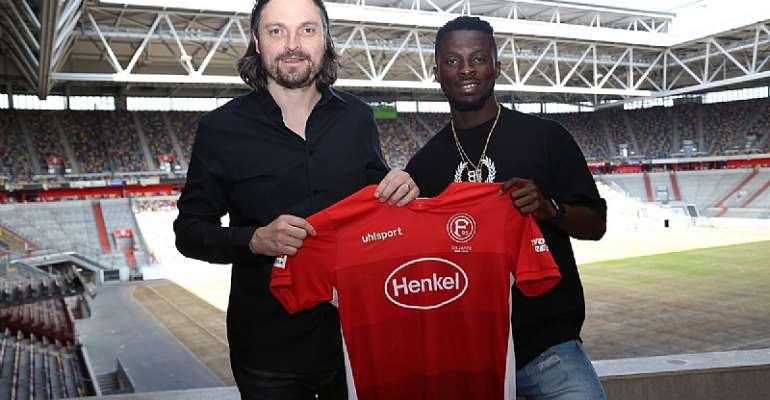 OFFICIAL: Ghanaian International Nana Ampomah Joins Fortuna Düsseldorf From Waasland-Beveren