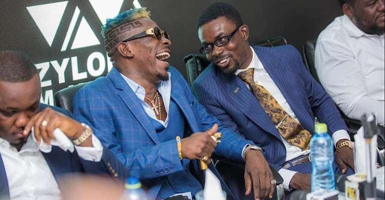 """My boss is back"""" -Shatta Wale finally reacts to NAM1's arrival"""