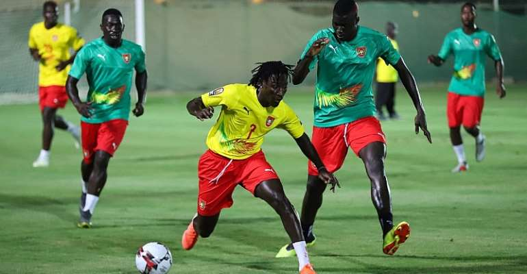 PICTURES: Guinea Bissau Hold Final Training Session Ahead Of Ghana Clash