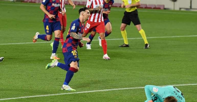Lionel Messi Scores His 700th Career Goal Against Atletico Madrid