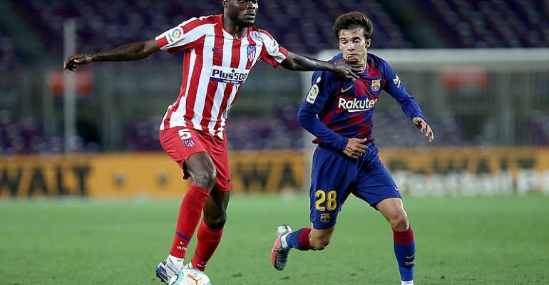 Arsenal Target Thomas Partey Stars As Atletico Madrid Holds Barcelona At Camp Nou