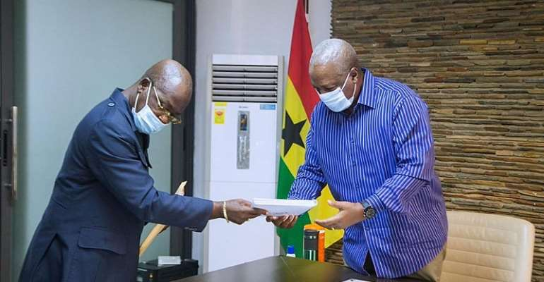 Election 2020: Mahama Receives Copy Of NDC People's Manifesto