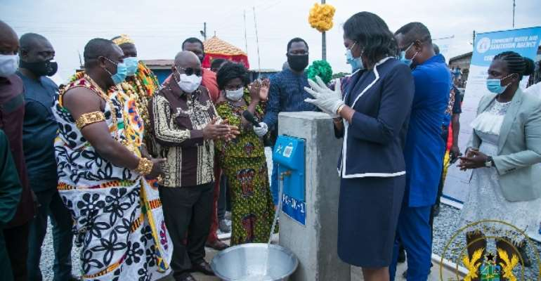 C/R: Akufo-Addo Commissions 146 Rural Water Systems