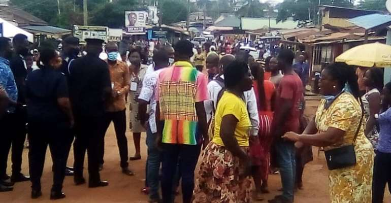Voter Registration: Tension At Accra Girls Institute Centre As NPP Prevents NDC Members From Holding Press Conference