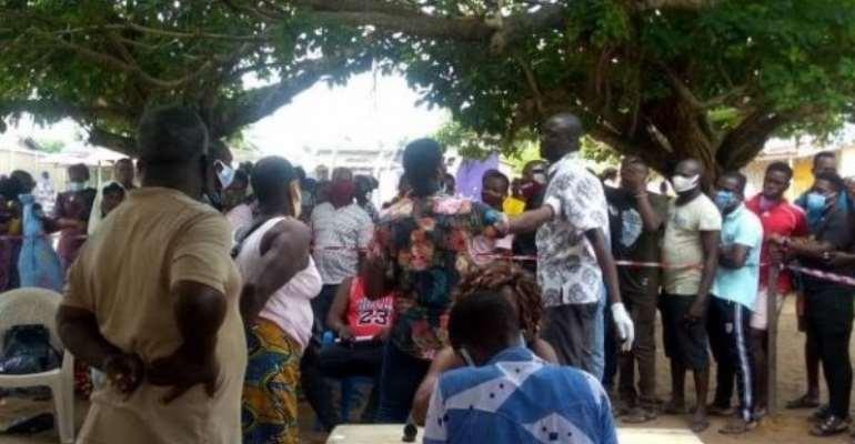 Voter Registration: Registrants Defy Social Distancing At Ho Leprosarium