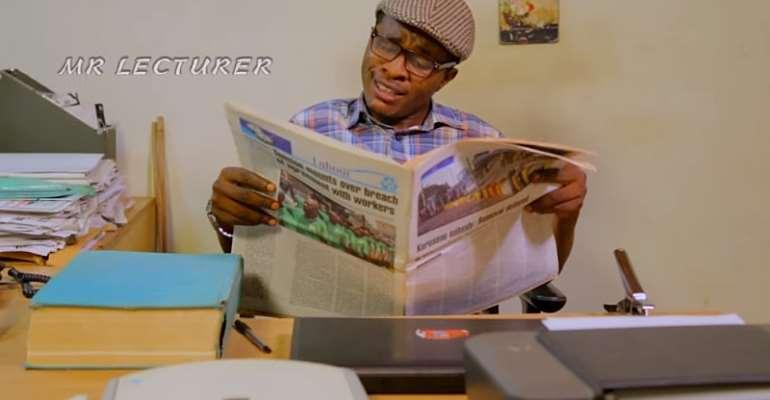 Samuel Ajibola flogs a school girl in New Hilarious Episode of Dele Issues