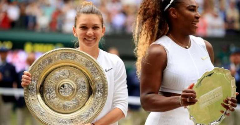 Simona Halep is the first Romanian woman to win the Wimbledon singles title