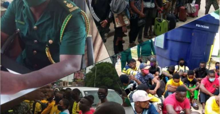 Sogakope: 25 Nigerians Infiltrating Ghana Grabbed