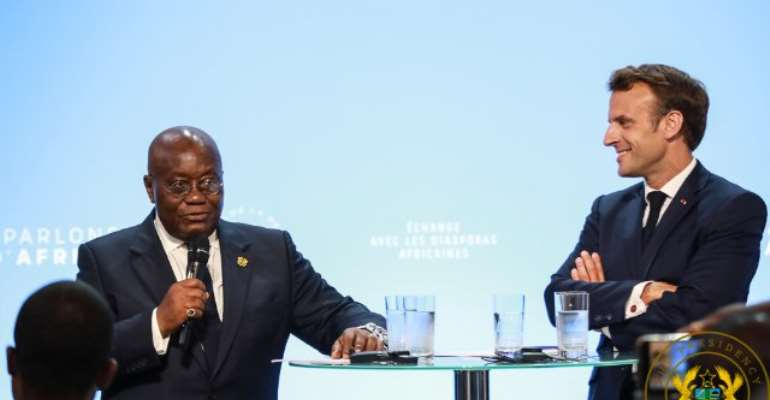 President Akufo-Addo with his French counterpart Emmanuel Macron