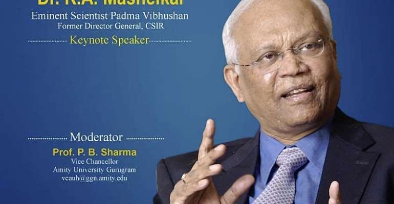 Dr RA Mashelkar at Amity Eminent Webinar