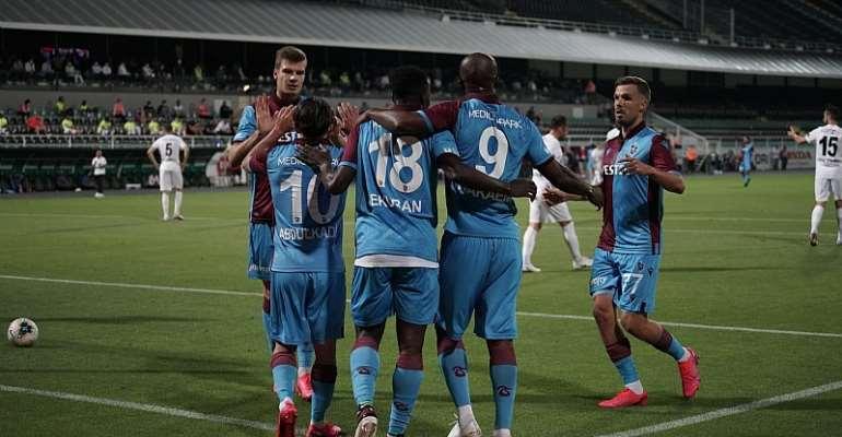 Forward Caleb Ekuban Scores For Trabzonspor In 2-1 Defeat To Denizlispor In Turkey
