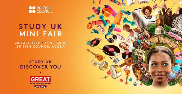 """British Council To Host """"Study UK Mini Fair """" On 20TH July"""