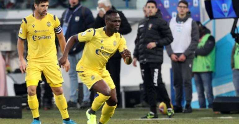 Agyemang Badu Feature For Hellas Verona In 2-1 Defeat To AS Roma