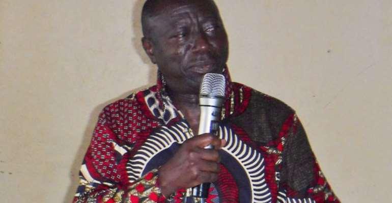 Kwame Owusu addressing the closing ceremony of the exercise.
