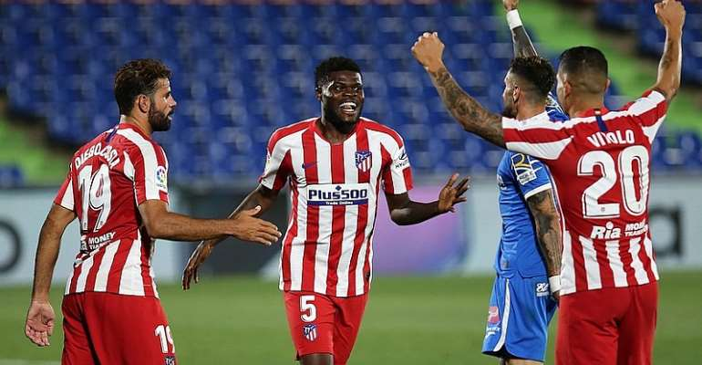 VIDEO: Watch Thomas Partey's Equalizer For Atl. Madrid In 2-0 Win At Getafe