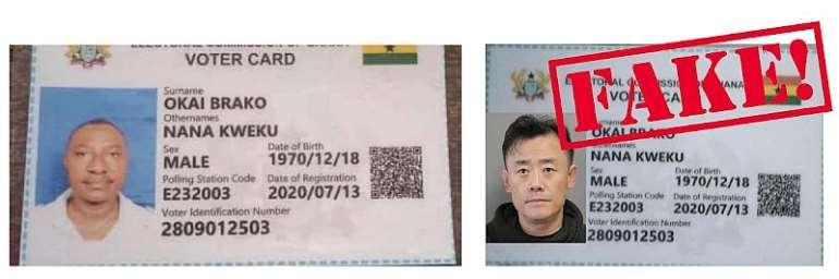 Asian Man Fake Voter's ID Photoshopped – EC