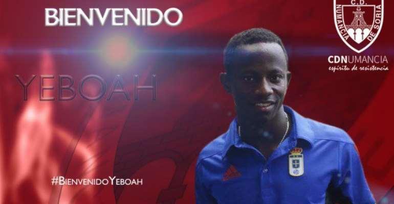 Former U-20 Star Yaw Yeboah Completes  CD Numancia Move