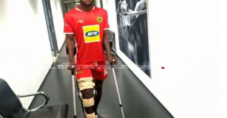VIDEO: Kotoko Midfielder Richard Senanu Begins Rehab In Germany