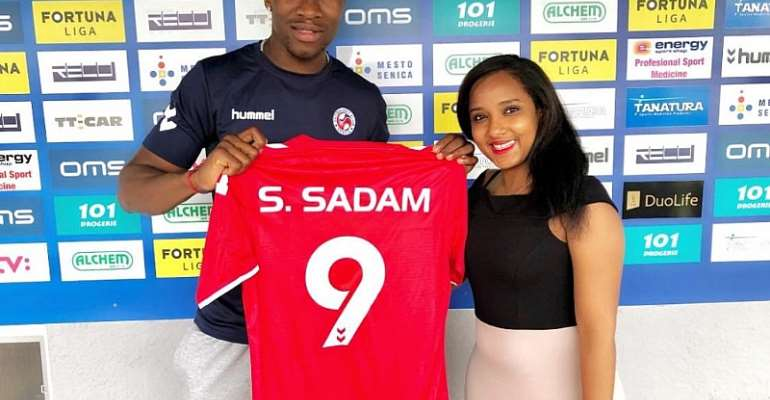 Ghanaian Striker Sadam Sulley Completes Move To Slovakian Side FK Senica