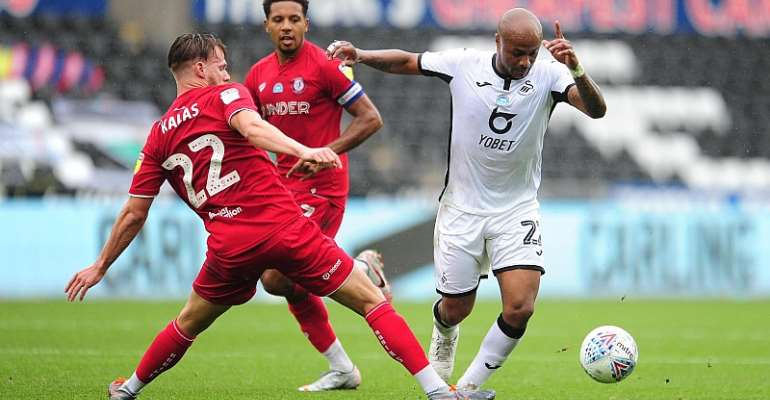 Andre Ayew Earn High Rating In Swansea City's Vital Win Against Bristol City