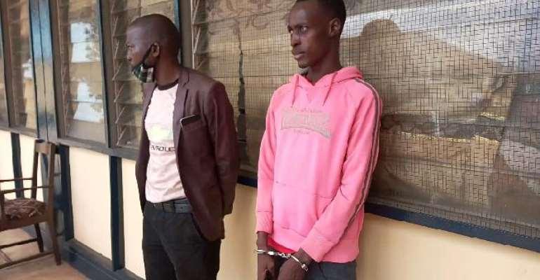Suspects Mumuni Abillah and Yushaw Kongsoha