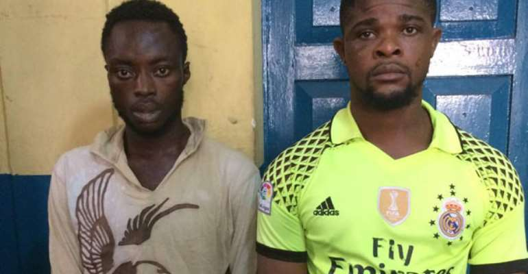 Mathias Fenyi and Isaac Quayson in police custody