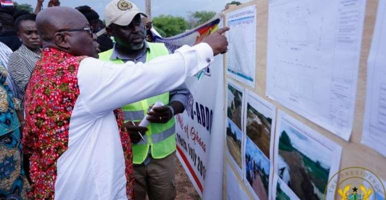 Bongo: Akufo-Addo Inspects 1-Village 1-Dam Project Site
