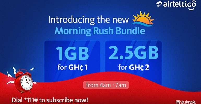 AirtelTigo introduces Morning Rush Data Bundles