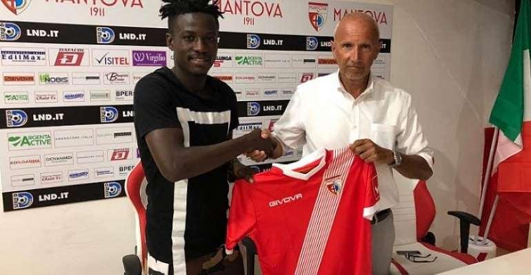Italian Lower-Tier Side Mantova FC Confirm Johnson Yeboah Signing