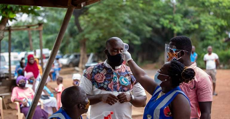 Unit Committee Member Of Dadiesoaba Agyemang Duah Distributes Nose Masks And Hand Sanitizers