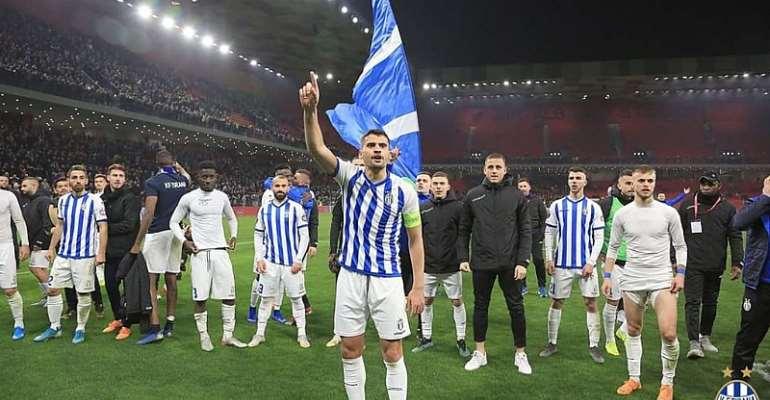 Winful Cobbinah Clinches Albania League With KF Partizani Tirana To Book Champions League Spot