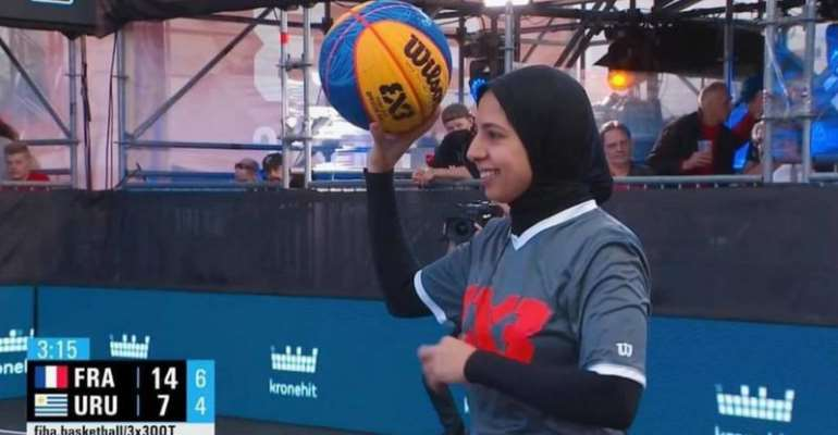 Sara Gamal is the first hijab-wearing woman to referee basketball at the Olympics