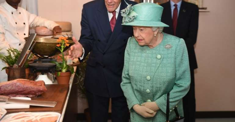 The Queen visits a replica of an original Sainsbury's supermarket