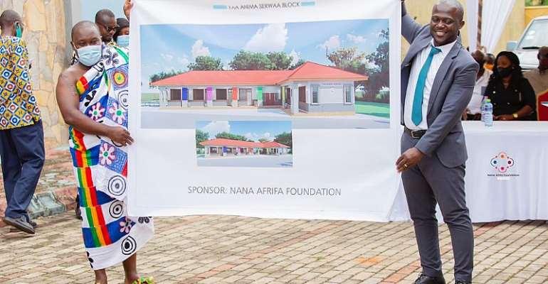 Juaso: Nana Afrifa Foundation Cuts Sod For A Six-Unit Classroom Block At St. Andrew Primary School
