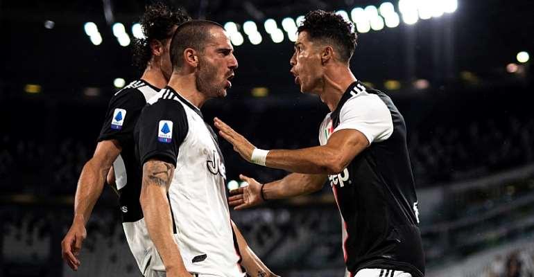 Juventus-Lazio, Serie A 2019-2020: esultanza Cristiano Ronaldo dopo il gol dell'1-0 (Getty Images)  Image credit: Getty Images