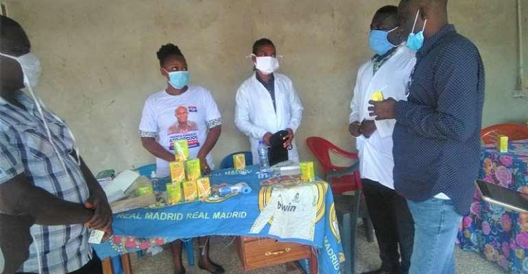 Ekumfi MP Holds Free Health Screening To Check Health Status Of Residents