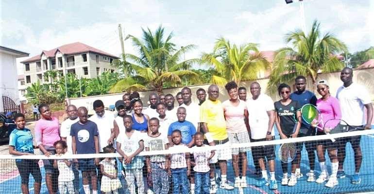 Rain suspends friendly tennis tournament at Sunyani