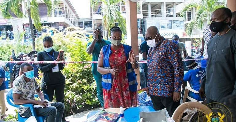Akufo-Addo Tours Voter Registration Centres In Accra [Photos]