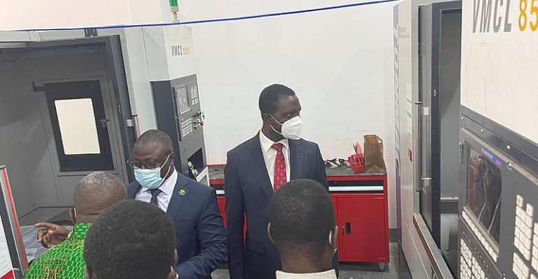 Education Minister, Commission for TVET  inspect ongoing TVET projects at CCTU