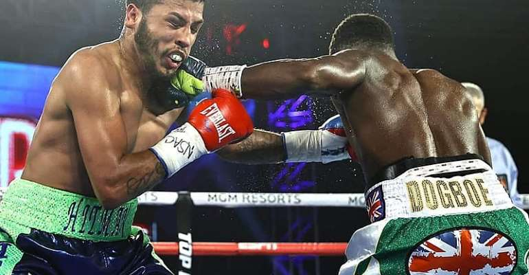 Isaac Dogboe Records Round 8 TKO Victory Against Chris Avalos