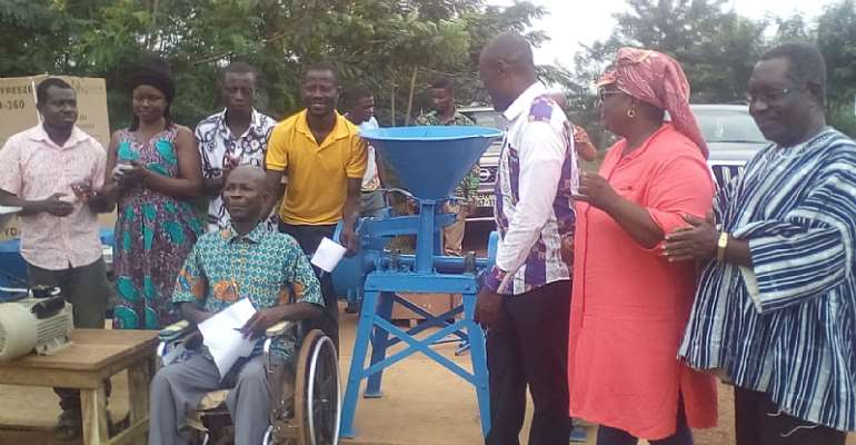 Persons With Disabilities Receive Working Tools From Gomoa Central District