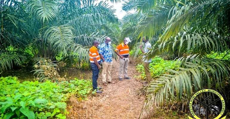 Dr. Isaac Dasmani Inspects Golden Star Rehab Project