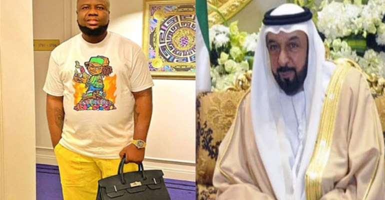 Hushpuppi and UAE President Sheikh Khalifa Al Nahyan