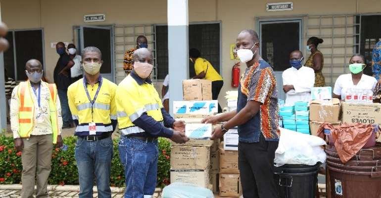 Newmont Ghana's Ahafo Mine Donate PPE To Hospitals In Bono, Ahafo Regions