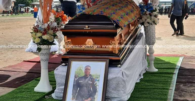 Police officer killed during James Town bullion van attack laid to rest [Photos]