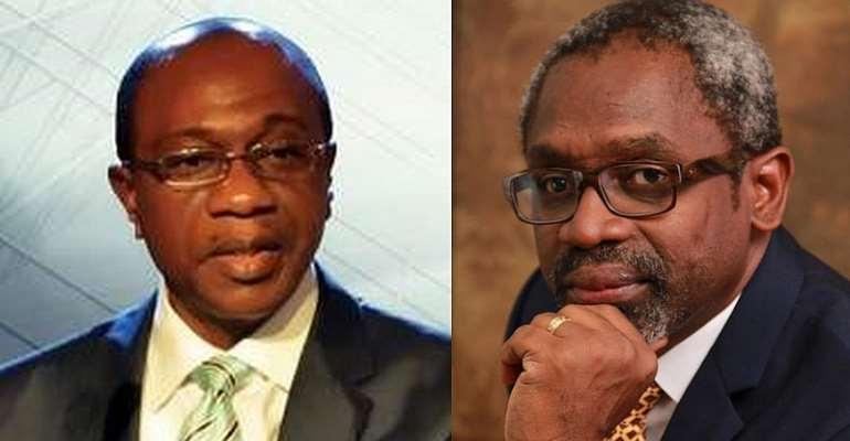 Central Bank of Nigeria Governor Godwin Emefiele and Representatives Speaker Femi Gbajabiamila