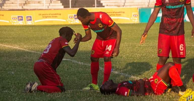 Asante Kotoko players left disappointed after bowing out of MTN FA Cup